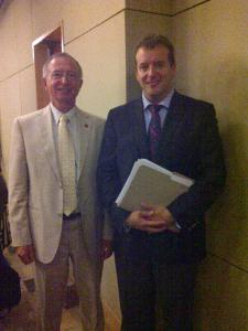 CS and Senator Ogilvie Sept 2011