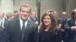 Dr. Simpson with Health Minister Rona Ambrose at the House of Commons in Ottawa