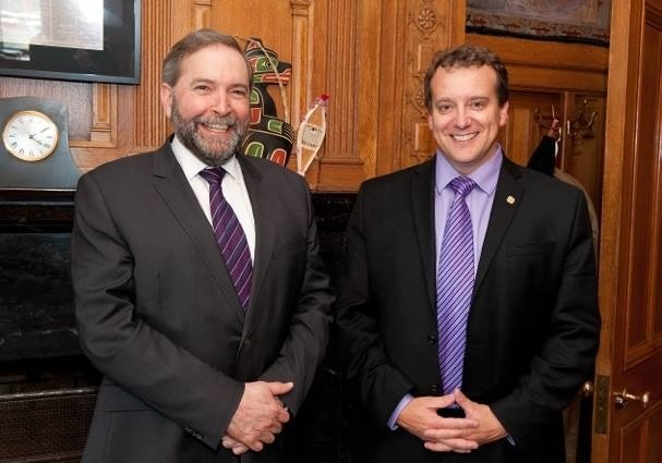 Dr. Simpson meets with Thomas Mulcair to discuss a national Seniors strategy