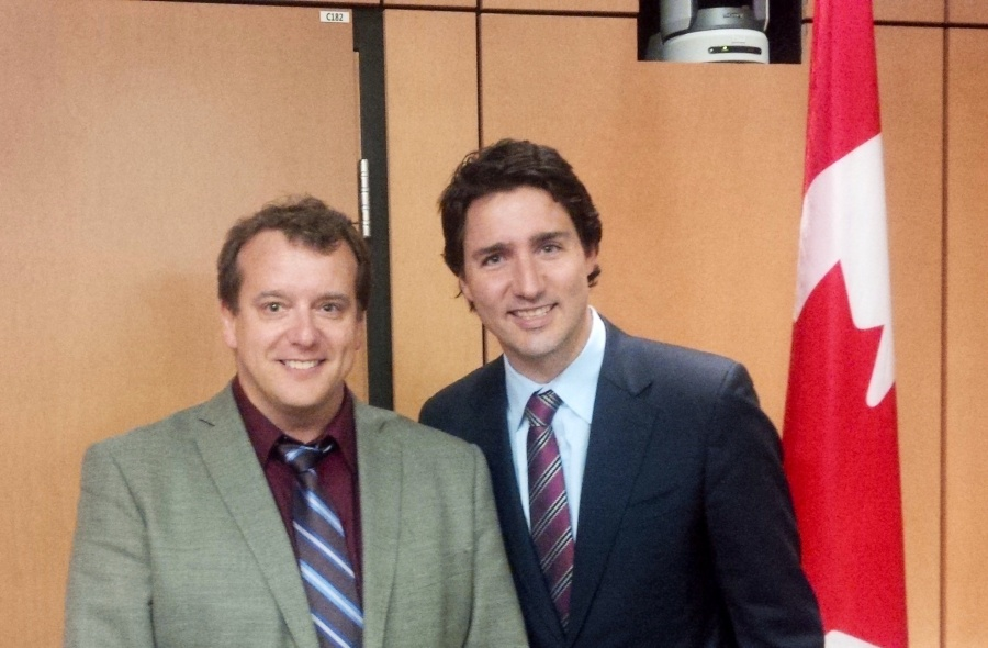 Meeting with Justin Trudeau on the need for a national seniors strategy