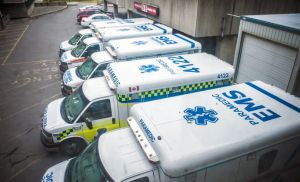 Ambulances in gridlock